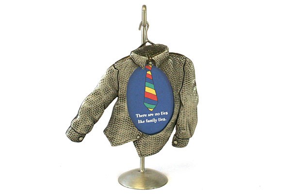 Papel Giftware Special Ties Single Button Long Sleeved Pewter Frame With Holder