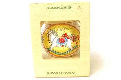 Satin Unbreakable Ornament Granddaughter Hallmark 1981