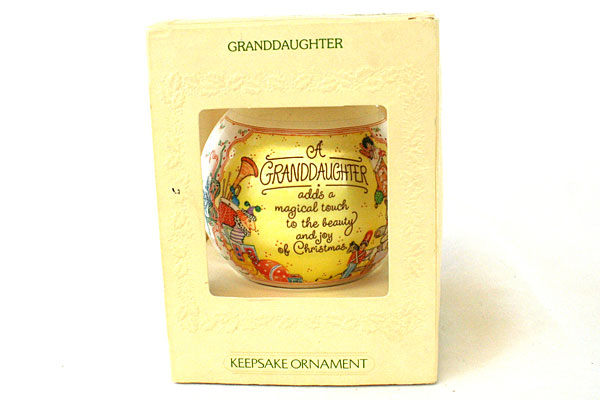 Satin Unbreakable Ornament Granddaughter Hallmark 1981
