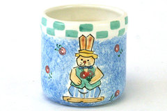Handpainted Ceramic Bunny Container Cranbury Crafts and Folk Art Papel Giftware
