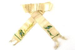 Ribbon Blanche Irene Name Embroidered Memorial Sash Neck Band