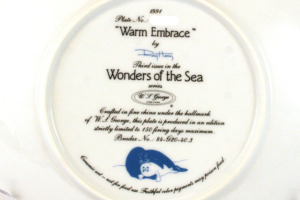 Wonders of the Sea - Warm Embrace 1991 W.S. George Plate #3 w/ COA
