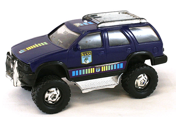 Remco Blue Plastic Bass Anglers Sportsman's Society SUV Toy