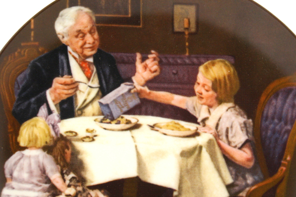 NORMAN ROCKWELL Plate The Gourmet Knowles 1985 Heritage Collection