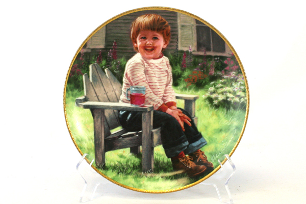 1990 Abbie Will Plate March of Dimes A Time to Laugh Porcelain Plate w/ COA