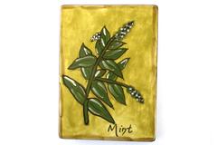 Potting Shed Francis Miller Home Decor Trivet Mint Herbal Art Tile