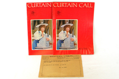 Western Union Telegram Hello Dolly Lois Labonte w/ Curtain Call Magazine 1967