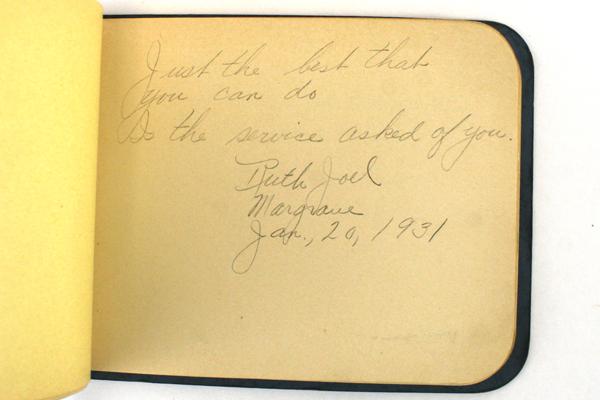 1931 Class Autograph Book With Autographs
