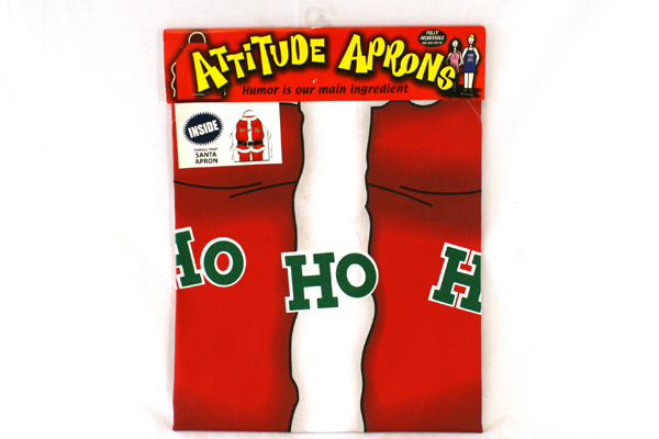 Adult Attitude Apron SANTA Costume Fully Adjustable Apron Christmas Holiday Cook