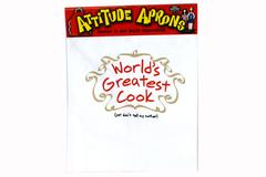 Attitude Apron White GREATEST COOK Fully Adjustable Apron