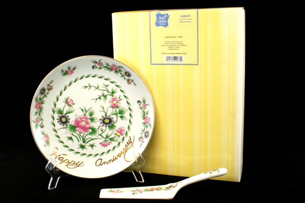 Genl Anniversary Floral Plate and Server Simply Celebrate Collection Gift Set