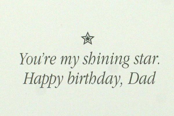 1987 Mary Engelbreit Shooting Star Shining Star Happy Birthday Dad