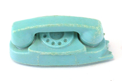 Vintage Blue Princess Phone Doll Size Accessory