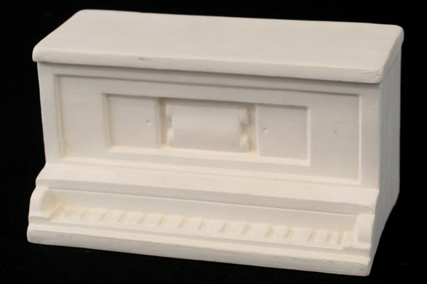 Bisque Ceramic Porcelain Player Piano Top 1:12 Just Add Legs