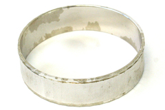 Monet Silver Tone Textured Bangle Bracelet