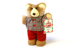 "7.5"" Wendy's Hamburgers 1986 Boone Furskins Happy Holidays Bear"