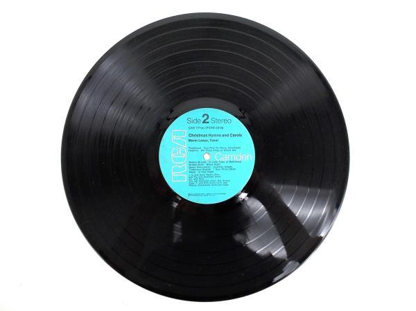 Vintage Mario Lanza Christmas Music Hymns and Carols Vinyl Record 1963