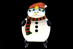 At Home International Snowman Serving Dish Tray Designed by Richman