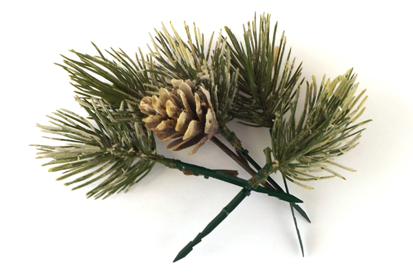 Artificial Fruit Bouquet - Pine Cone and Pine Needles and Pears