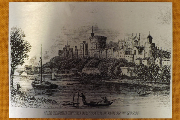 Vintage Stainless Steel The Castle Of The British Sovereign Windsor Print