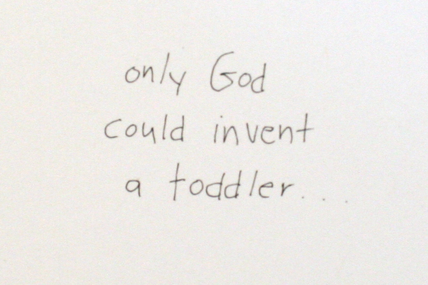 Set of 3 Lifesighs Greeting Cards With Envelopes Only God Could Invent A Toddler