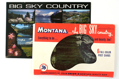 Lot of 2 Montana Postcards Vintage Set of 6/Modern Big Sky Country Images