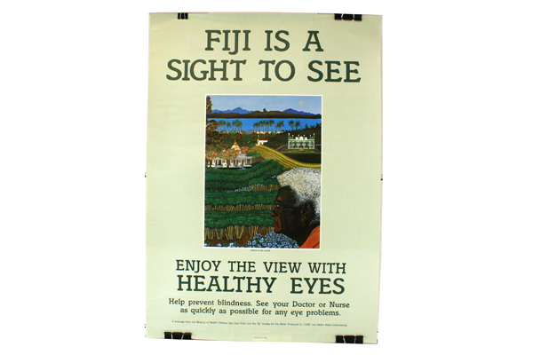FIJI Is A Sight To See Simone In His Garden USAID/Helen Keller Eye Care Poster