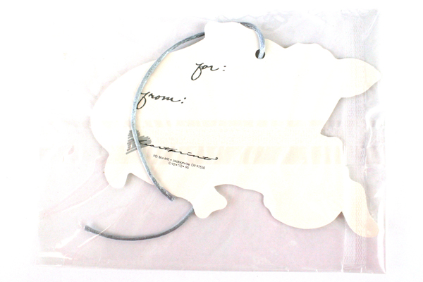 Lot of 6: Assorted Heartprint Cow Gift Tags