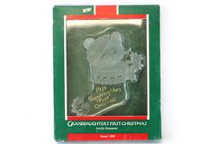 1989 Hallmark Keepsake Acrylic Ornament Granddaughter's First Christmas In Box