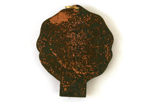 Bronze Mount Hamilton Athletic League Bronze Swimming Medal Dated 1971
