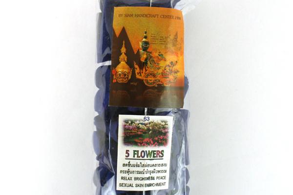 Bag Of Siam Handicraft Center 5 Flowers Scented Incense Cones