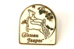 Chateau Jasper Canada Hotel Enamel Pin