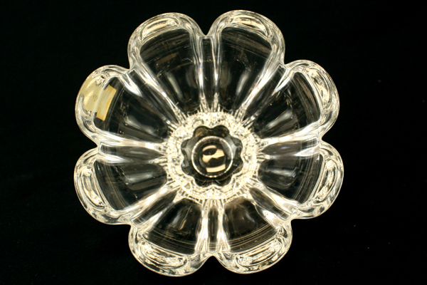 Mikasa Crystal Flower Shaped Candy Bowl