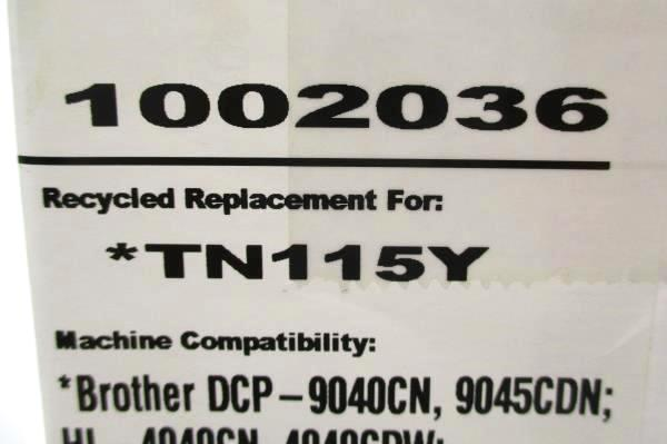 High Resolution TN-115Y Yellow Toner Print Cartridge NIP Sealed Printer