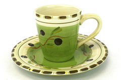Hand-Painted HD Designs Ceramic Plate & Mug Set