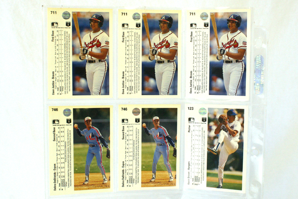 24 Upper Deck 1990 MLB Player Cards Collectible Baseball Cards