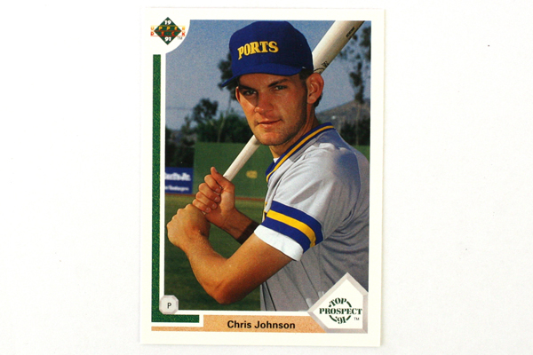 Top Prospect '91 MLB Chris Johnson Rookie Player Card #56 Upper Deck 1991