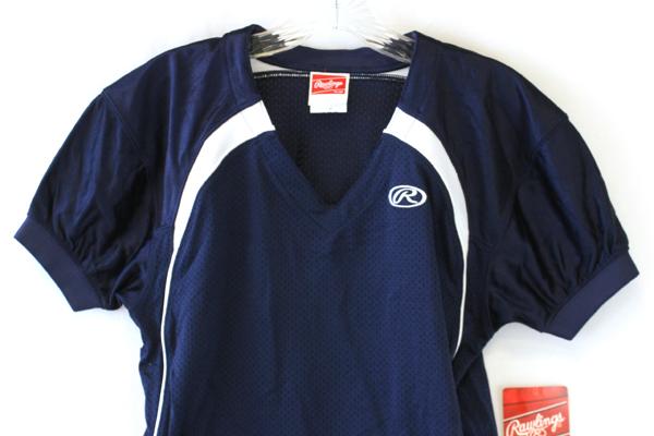 NEW Rawlings Blue Mesh Nylon Football Jersey Youth Size L YFJTECF-N-90