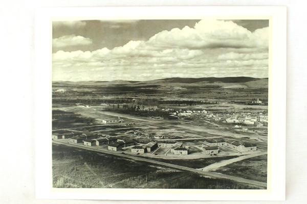 Vintage Black & White 8.5 X 11 Photograph Military Barracks Base