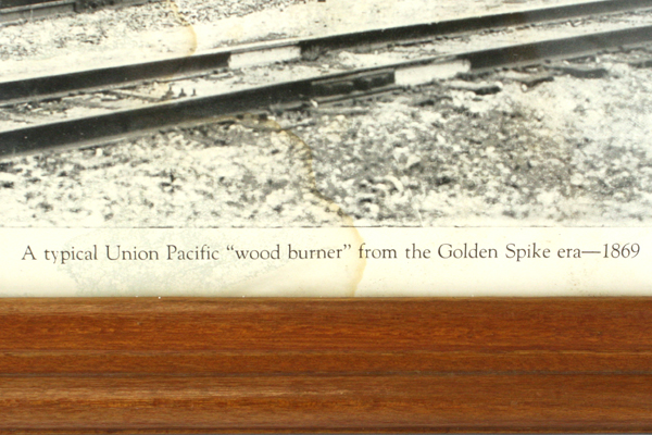 Paramount's Union Pacific Wood Burner 1869 Golden Spike Era Framed Picture
