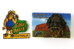 Lot of 2: Australia Aboriginal and Tourist Souvenir Magnets