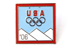 2006 Aminco Turin Winter Games USA Olympic Mountains Pin