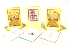 Set of Six Unused Wedding/Couples Greeting Cards w/ Envelopes