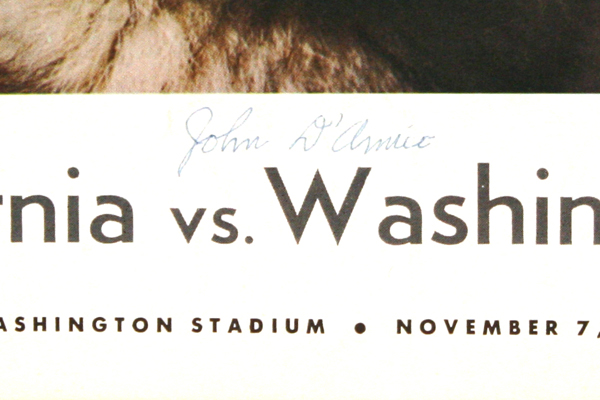 Vintage Washington Sideliner Magazine Nov. 7th, 1964 California vs. Washington