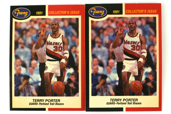 Lot of 2 Collector's Issue Cards Fleer 1988 Portland Trail Blazers Terry Porter