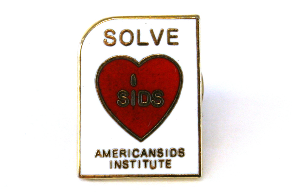 Red And White Enamel American SIDS Institute Pin