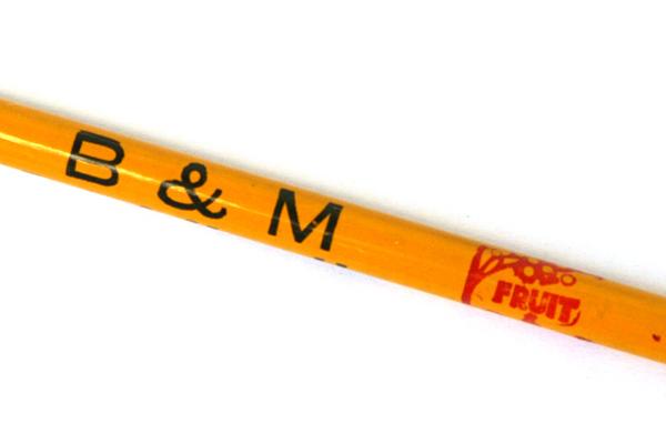 Vintage Goldenrod B & M Fruits & Vegetables Newark, N.J. Advertising Pencil