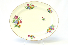 "14"" Vintage Midwinter Porcelain Spring Bouquet Oval Platter 11.25"" by 14"""