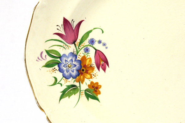 "14"" Vintage Midwinter Porcelain Spring Bouquet Oval Platter 11.25"" by 14"""