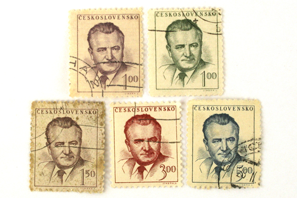 Lot Of Five 1948 Czechoslovakia Predisent Klement Gottwald Stamps (As-Is)